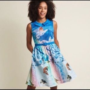 ModCloth Whimsy Without End Snow Cat Dress